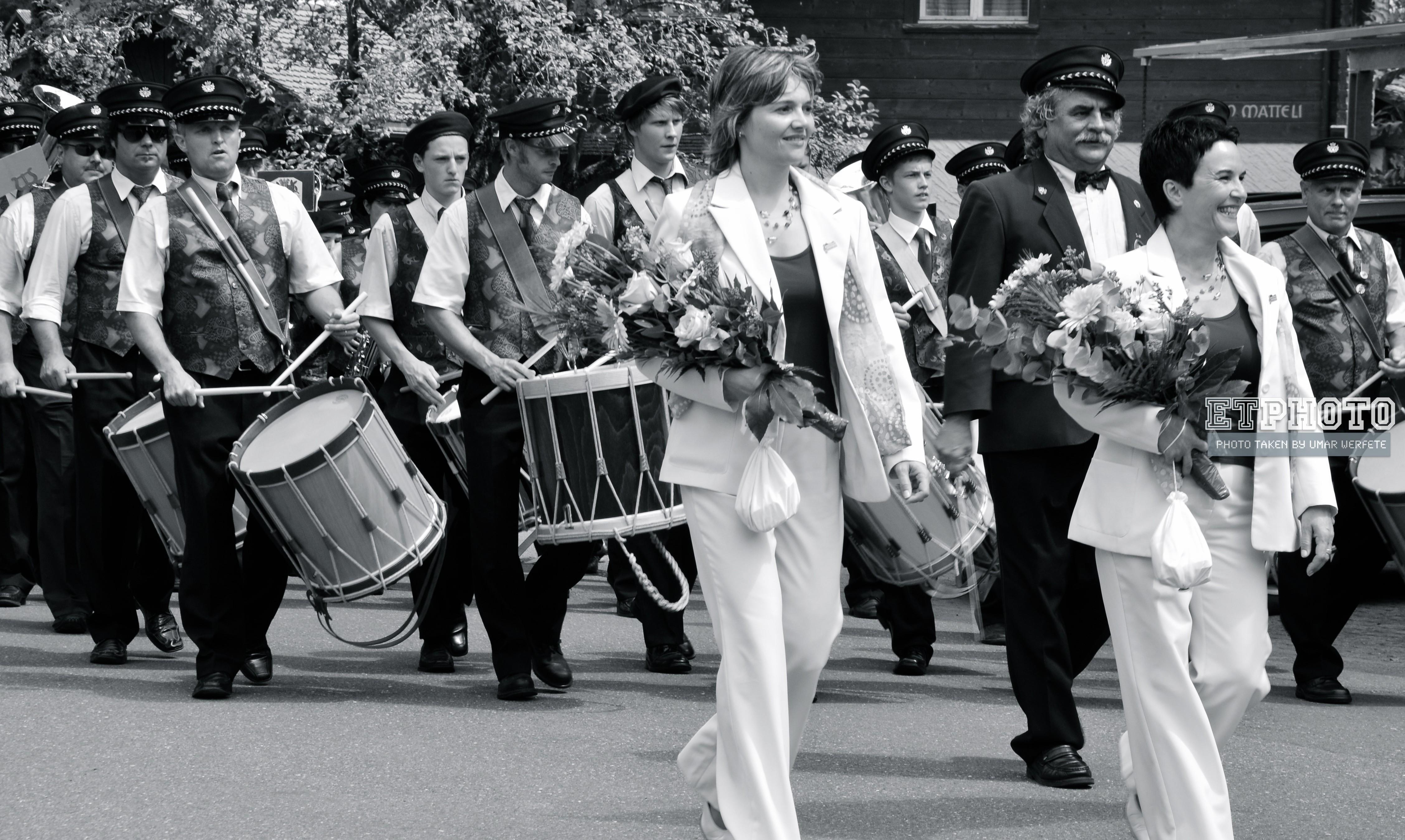 Marching Band Parade Interlaken, Switzerland