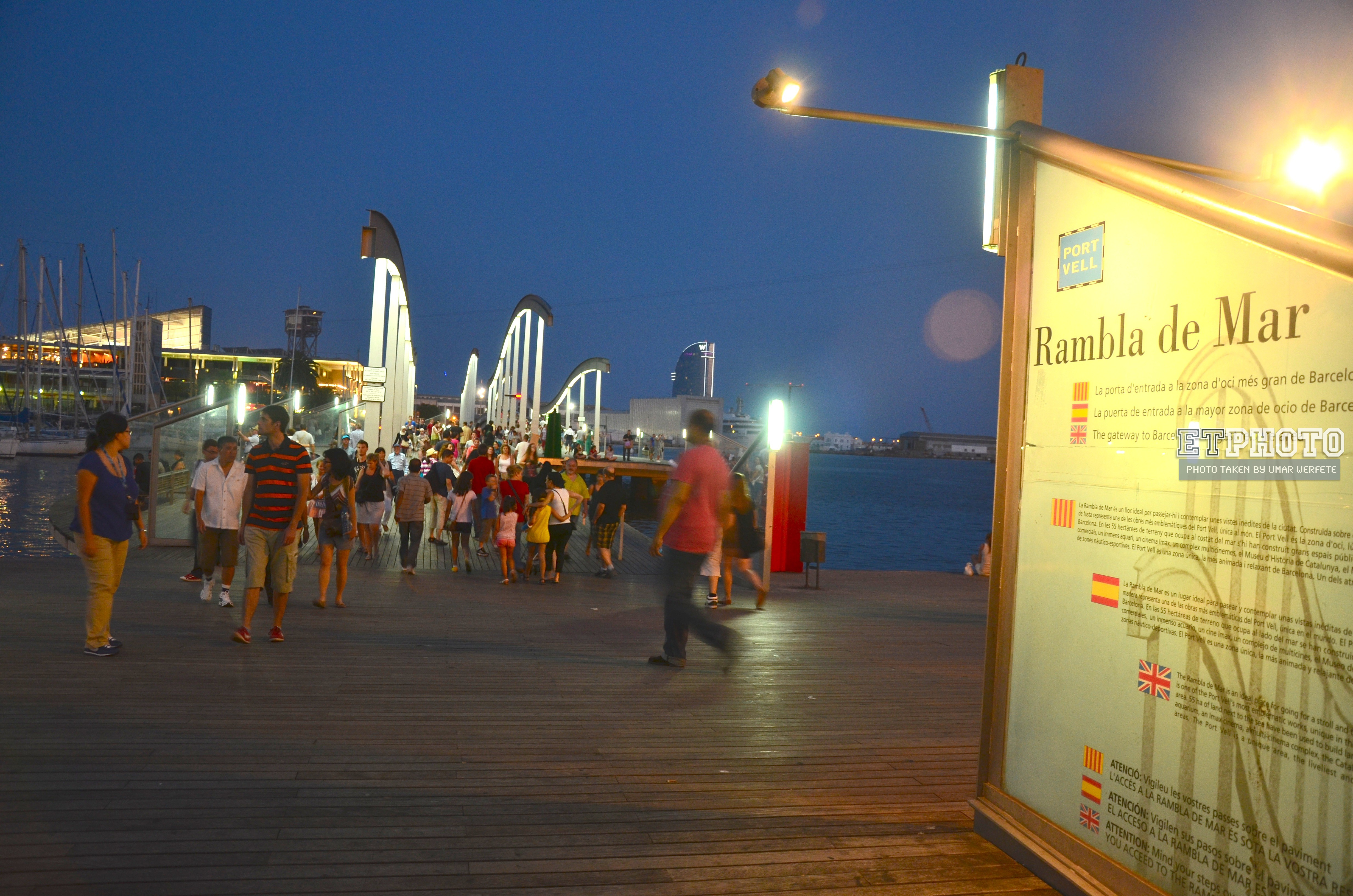 Rambla de Mar; Recomended Spot to See in Barcelona